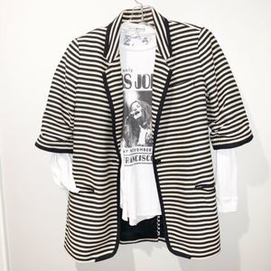 ELIZABETH AND JAMES Striped Blazer--SZ 4